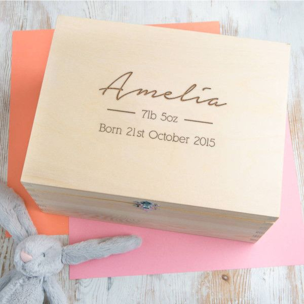 The perfect way to protect and cherish those little reminders of a new born's first years, this Personalised Baby Keepsake Box is truly beautiful. A lock of