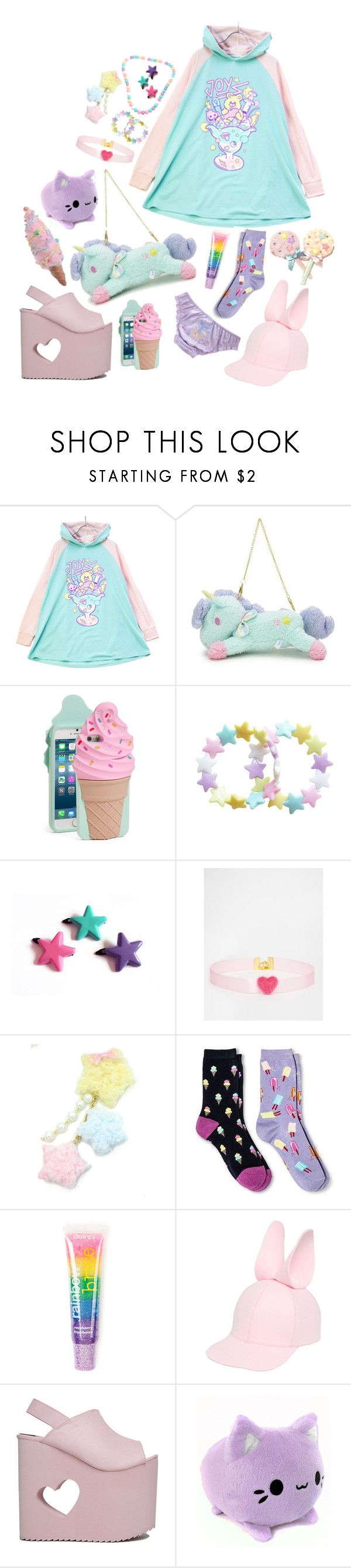 """""""kawaii かわいい 💞"""" by vitorialn ❤ liked on Polyvore featuring Kate Spade, Clips, Suzywan DELUXE, Davco, claire's, Francesco Ballestrazzi, Nikki Lipstick and Raz"""