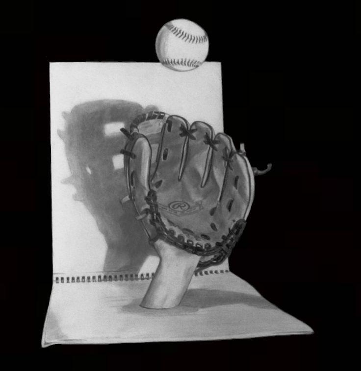 3D baseball art by Robb Scott.