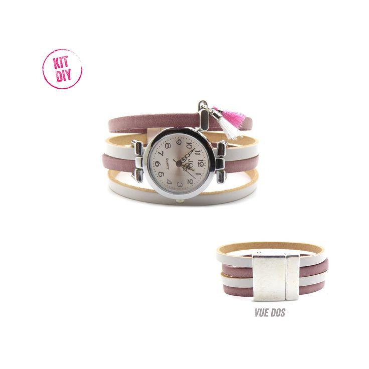 Réalisez votre montre, mf apprets et perles vous propose des kits bracelet montre DIY à partir de 8,50€