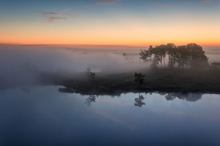 """Island in the Sky - <a href=""""https://www.facebook.com/jurgencornelissenfotografie"""">FACEBOOK</a> - <a href=""""https://twitter.com/JuCoFotografie"""">TWITTER</a> - <a href=""""https://www.instagram.com/jurgencornelissen25021985/"""">INSTAGRAM</a>{English/Engels} The view over the """"Klotteraard"""" on the morning of september 27th. The flat Campine landscape covered in mist as far as the eye reaches, and with the reflection in the perfectly still water.{Nederlands/Dutch} Het uitzicht over de Klotteraard op de…"""