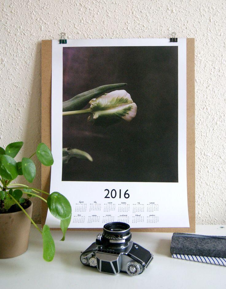 """kalendarz 2016 """"tulip"""" #analogowelowe #papieriwełna"""