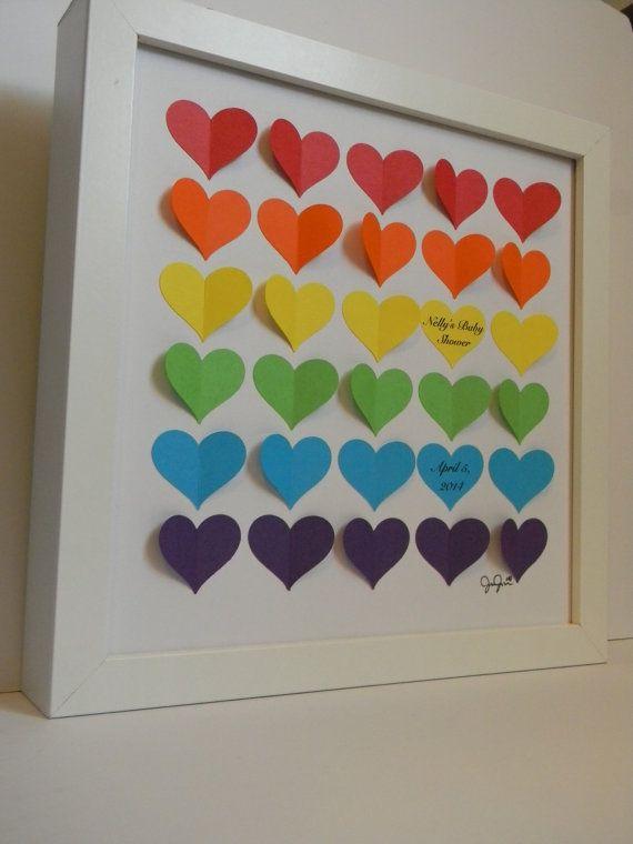 baby shower guest book alternative rainbow baby shower gift