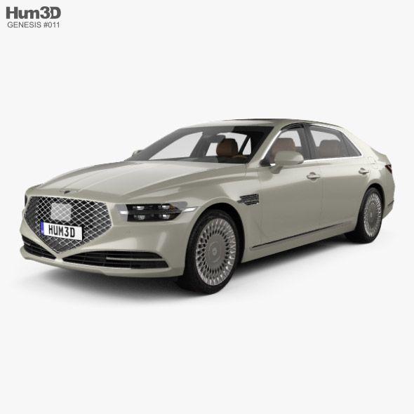 Genesis G90 With Hq Interior 2020 In 2020 3d Model Car Hybrid Car