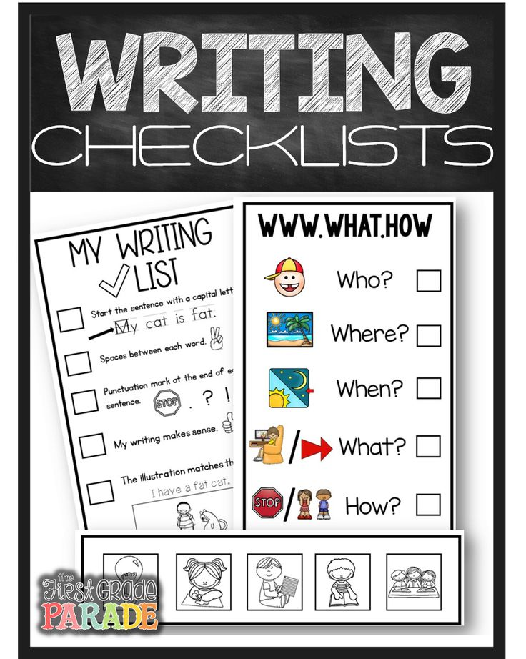 The First Grade Parade: Write On Wednesday -- All about her writing routine and resources that are available for kids when they write