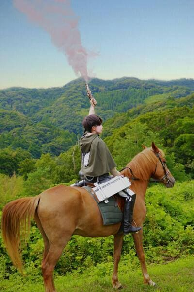 #Levi #SNK #Cosplay -  I AM SO DOING THIS!!!!!! I have so many horsies to choose from!