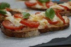 Mincir avec thermomix - Spécial régime DUKAN : Bruschettas tomate mozzarella et salade verte - D...