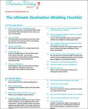 Best 25+ Destination wedding checklist ideas on Pinterest ...