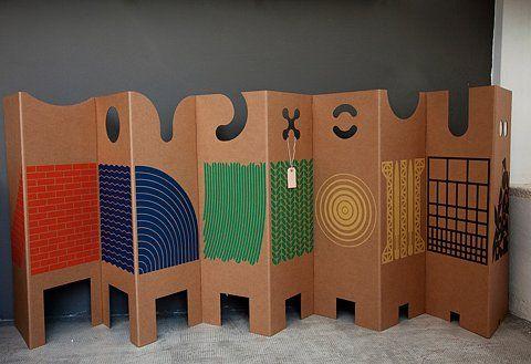 33 best biombos images on pinterest room dividers - Biombo de carton ...