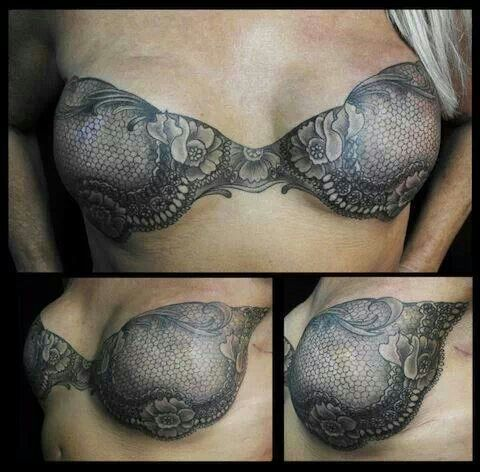 Mastectomy scar cover up. Beautiful