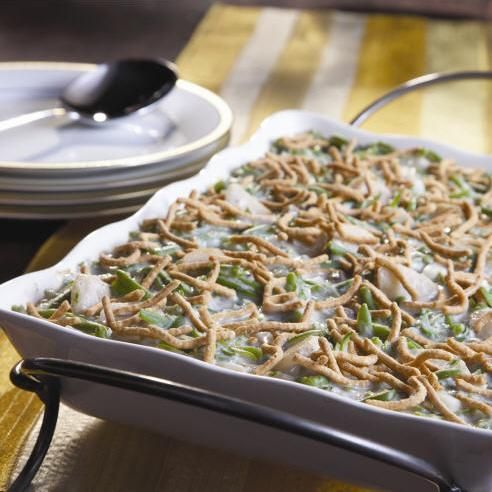 Green Bean Casserole with La Choy water chestnuts, soy sauce, and chow ...