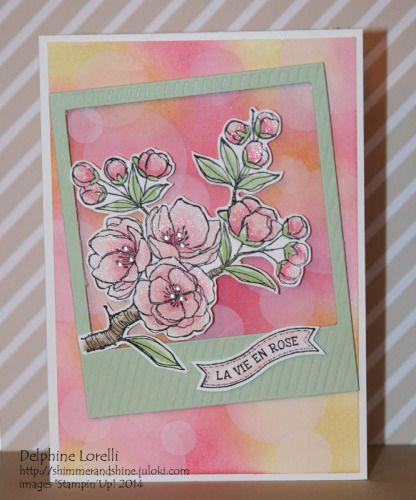 Shimmer and Shine - La Vie En Rose - #Stampinup, #IndescribableGift, #FlamingoLingo,  #Bokeh - Design by Lolascrap et Compagnie
