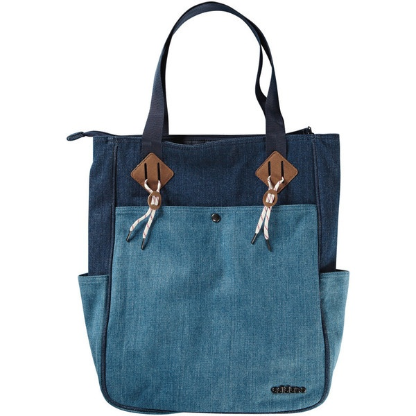 NEO Denim Tote (F) ❤ liked on Polyvore