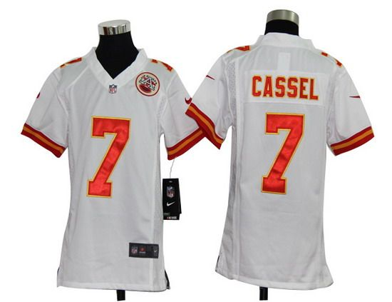 Nike Chiefs #7 Matt Cassel White Youth NFL Game Jersey