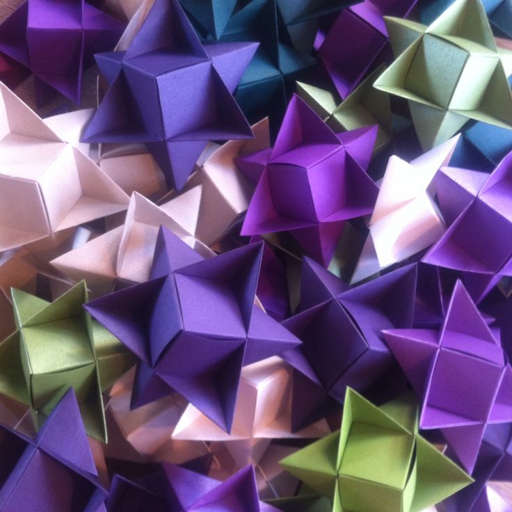 More stars folded by me