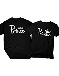 New Zexpa Apparel Prince  Princess | Matching Couple Shirts, His and Her T-Shirt - Couple Gifts online. Find the perfect Rhonda Shear Tops-Tees from top store. Sku RURV51733JLWT39745