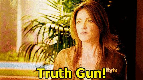 "… And that all of life's questions can be answered with the Truth Gun. | Community Post: 21 Life Lessons We Learned From ""Cougar Town"""
