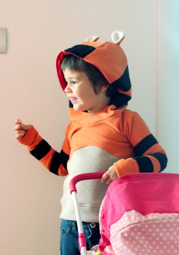 Tiger costume kids' sweatshirt. Tiger toddlers and kids cosplay sweater. Disguise, dress up, carnival wear. Made to order.