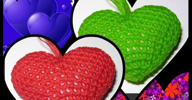 Ciao.   In attesa di San Valentino vi faccio vedere come realizzare dei simpatici cuoricini con l'uncinetto: obiettivo amigurumi!!!   Ecc...