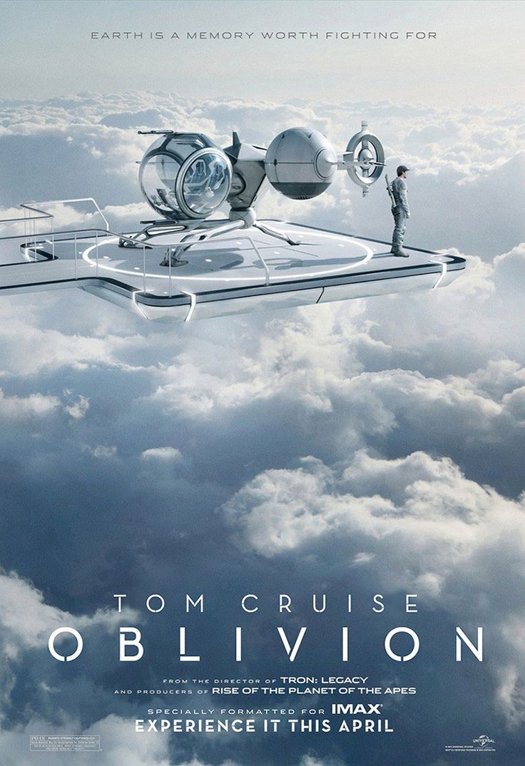 This Oblivion IMAX Poster is a real beaut, Such relaxed colours and beautiful imagery.