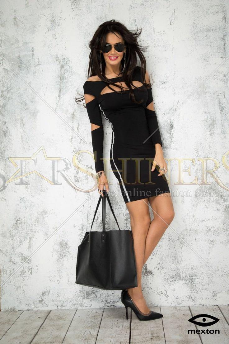 Mexton Single Girl Black Dress