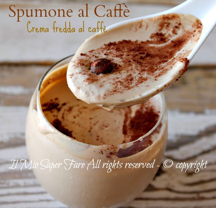 Spumone al caffe | crema fredda al caffè come al bar ricetta facile e veloce.Vellutata crema fredda al caffè,resa corposa dalla panna e golosa dalla nutella