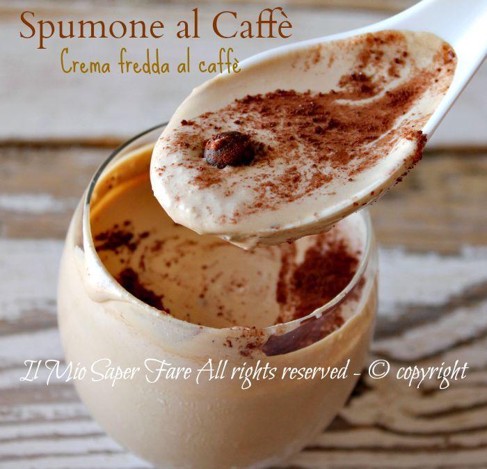 Spumone al caffe | crema fredda al caffè