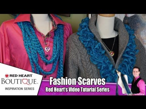 Red Heart Boutique Sashay are fun frill yarns and thee most popular frill scarves. You can create two amazing looks with Sashay as the original Ruffle Scarf but you can also created amazing chain scarves by finger chaining or using your crochet hook. This video features different ways to wear your Sashay. Follow Mikey from The Crochet Crowd as h...