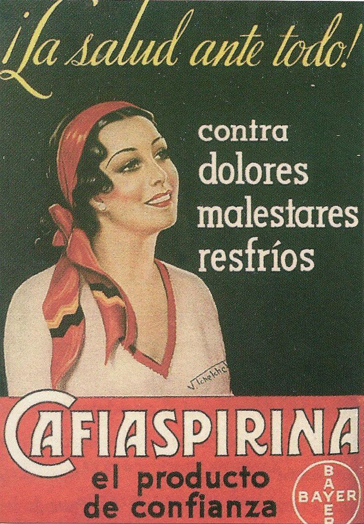 Bayer aspirina. España. Spain.