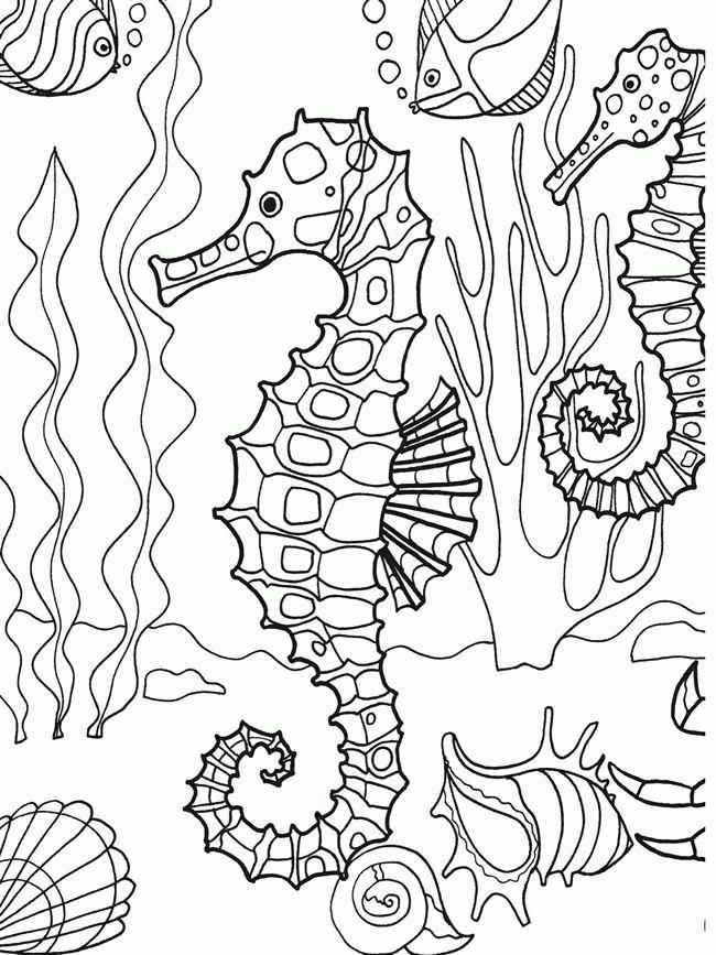 Free Under The Sea Coloring Sheets Download Free Clip Art Di 2020 Lembar Mewarnai Gambar Warna