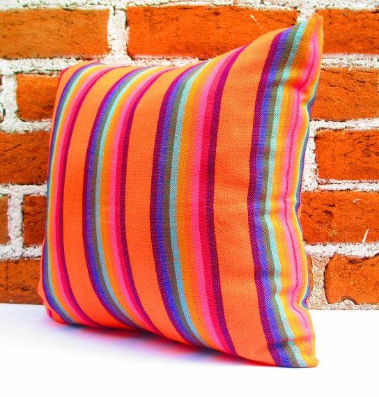 tribal pillow cover 18x18 bohemian decor boho bedding orange pillow cover mexican tribal pillow cover gift for her christmas gift