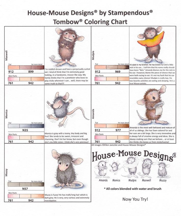 House Mouse stamps coloring with copics