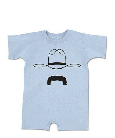Take a look at this Light Blue Handlebar Cowboy Romper - Infant by Howdy Y'all on #zulily today!