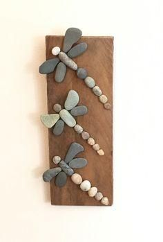 Three Rock Dragonflies on Driftwood- 10 - Gardening Glitz