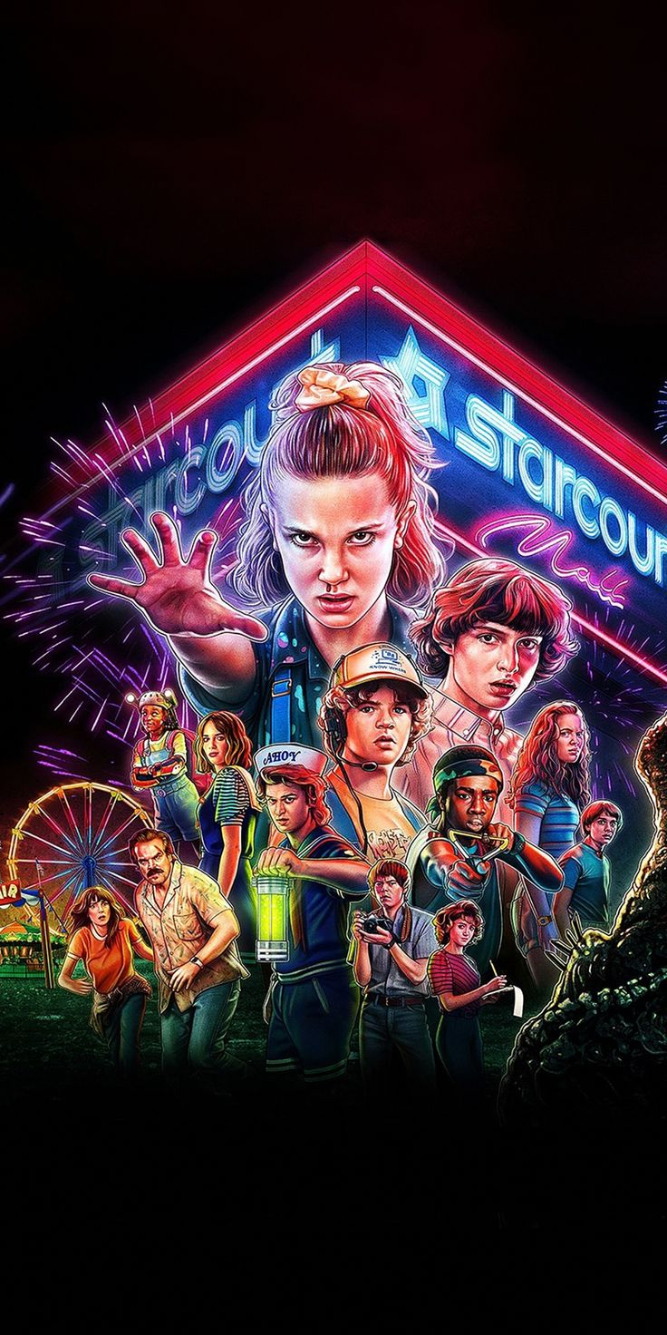 1080x2160 Stranger Things, season 3, tv series, 2019
