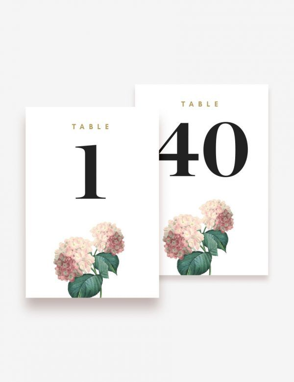 Printable table number for your wedding reception day! www.inatondesign.com