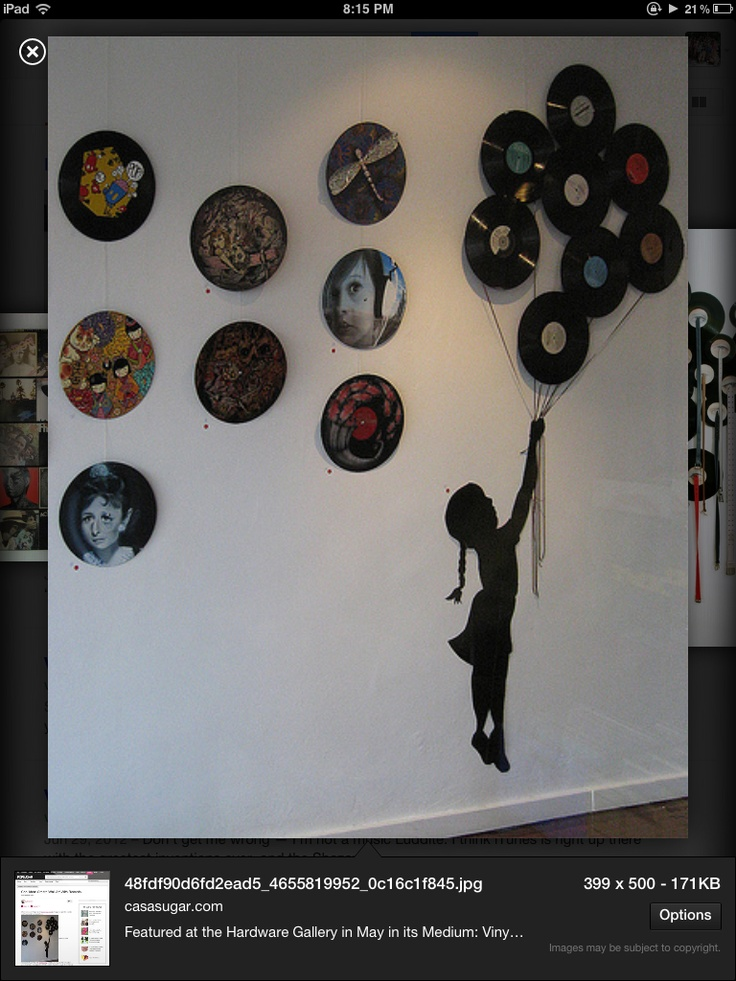 17 best images about projet 2 vinyl record wall art on for Vinyl record wall art