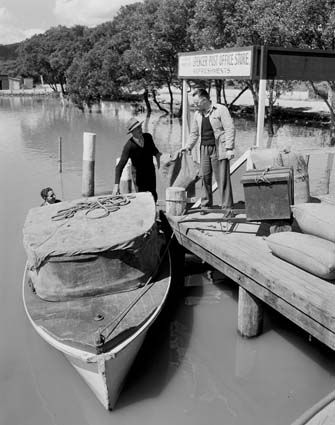 NSW - Hawkesbury River - Spencer Post Office and Store jetty 1951