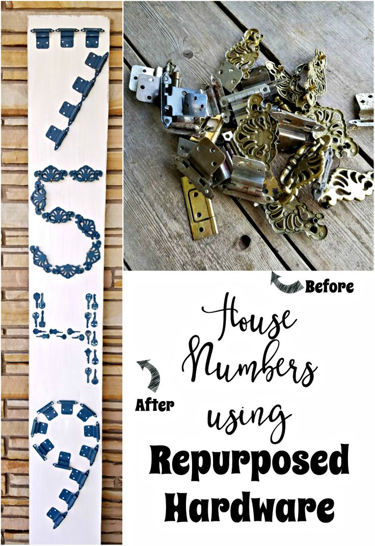 Looking for a unique way to make house numbers? How about using repurposed hardware to form house numbers?! House Numbers using Repurposed Hardware