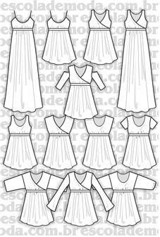 Moldes de blusas, camisas, blazers, batas, regatas, calças, saias e vestidos para a moda feminina - Escola de Moda Profissional