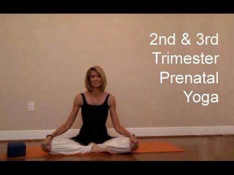 2nd & 3rd Trimester Prenatal Yoga - YouTube