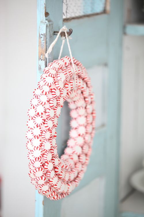 Too Cute -Peppermint Wreath