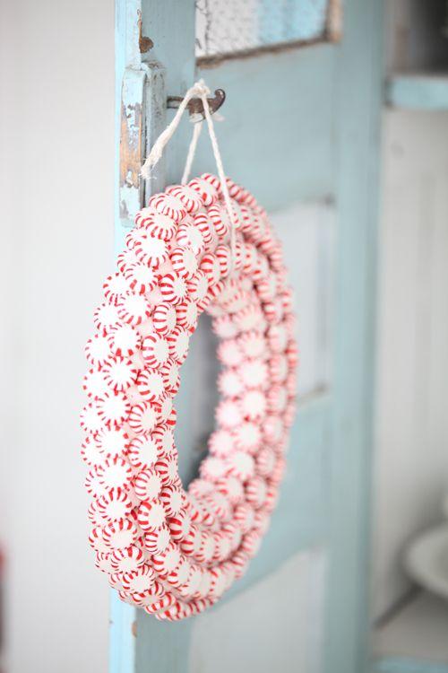 Too Cute -Peppermint Wreath