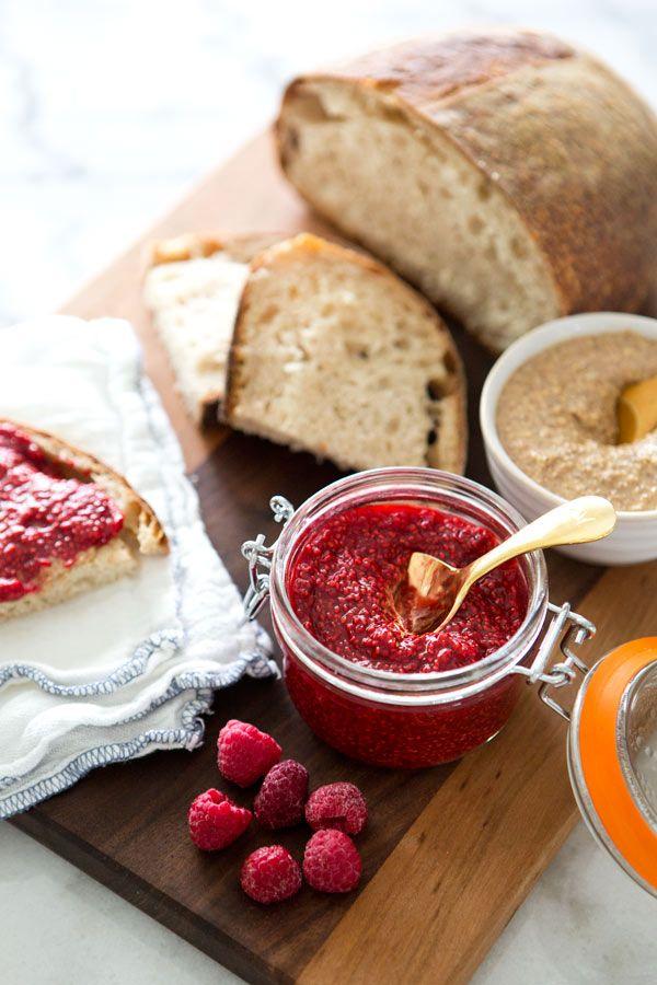 Mix up a batch of homemade raspberry chia jam.