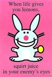 Happy Bunny - happy-bunny-2 photo: Happy Bunnies, Funny Bunnies, Funny Shit, Quote, New Life, Life Mottos, Funny Stuff, Things, Lemon