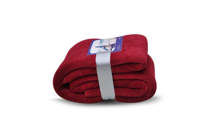 Spring fever Luxury Fleece Microfiber Blanket Super Soft Solid Lightweight Throw For Couch Bed Sofa Claret Twin