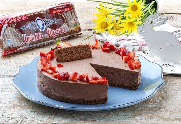 "Cheesecake σοκολάτα με ""Μιράντα"" ΠΑΠΑΔΟΠΟΥΛΟΥ με κακάο & σοκολάτα"