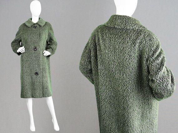 Vintage 50s Cocoon Coat HARELLA 50s Swing Coat by ZeusVintage