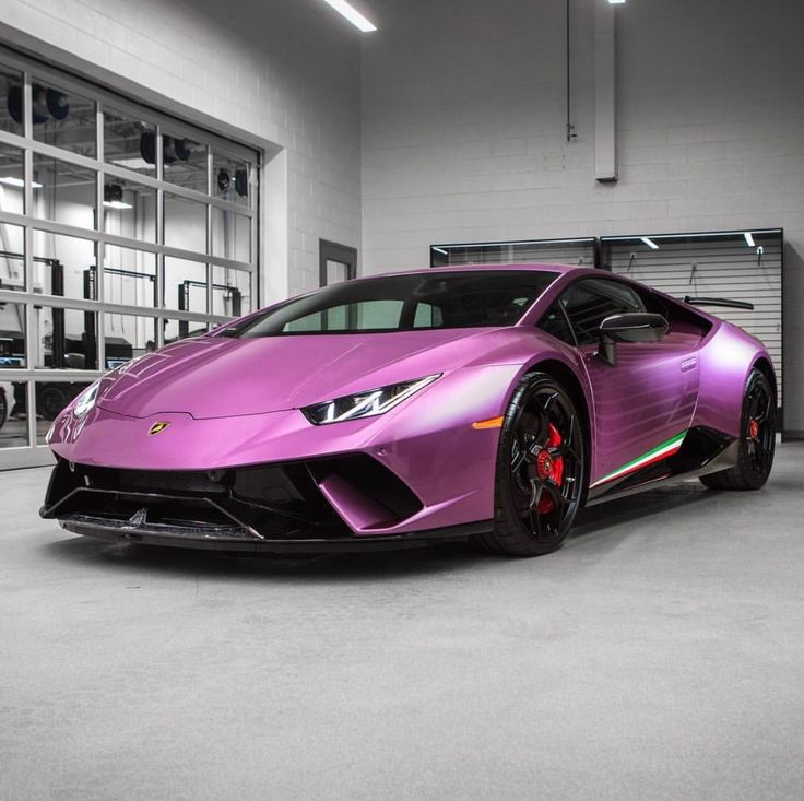 Lamborghini Huracan Performante painted in Viola 30th w/ Tricolore stripes along the doors  Photo taken by: @marcaesteves on Instagram
