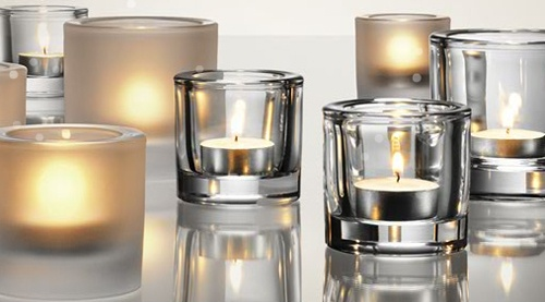 Iittala Kivi votive candle holders